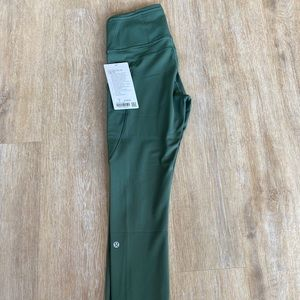 """Lululemon Fast and Free HR Tight 25"""" Green"""